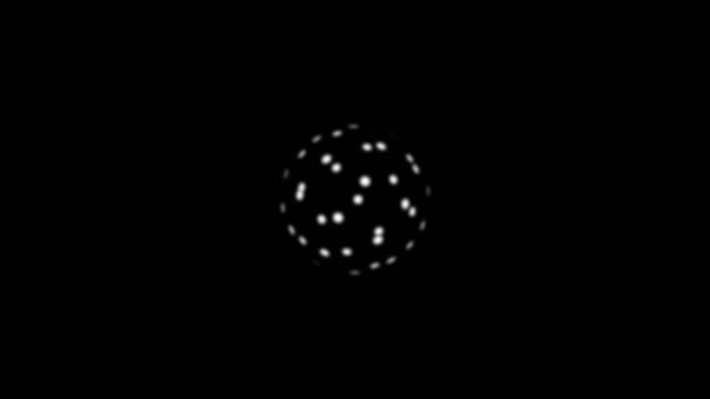 Abstract background with rotating ball video