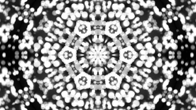 Abstract background with silver kaleidoscope video