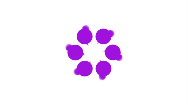 Abstract background with violet rotating polka dots. Violet dot circle video