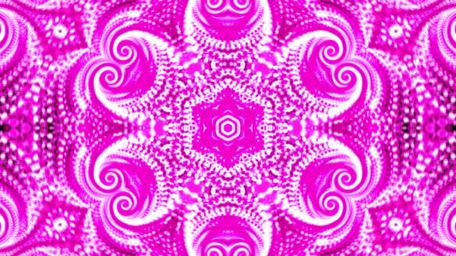 Abstract background with violete kaleidoscope video
