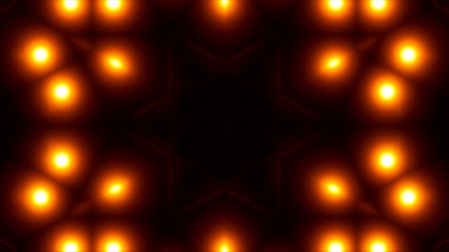 vj フラクタル ゴールド万華鏡のような抽象的な背景。3 d レンダリング デジタル背景 - 万華鏡模様点の映像素材/bロール