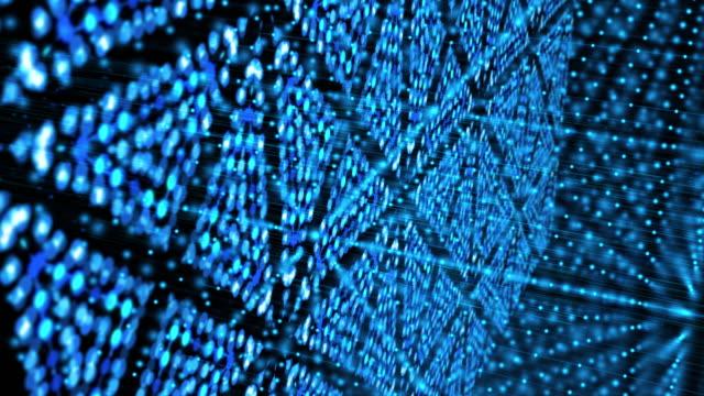 抽象的な背景、ブルー色 - 対称点の映像素材/bロール