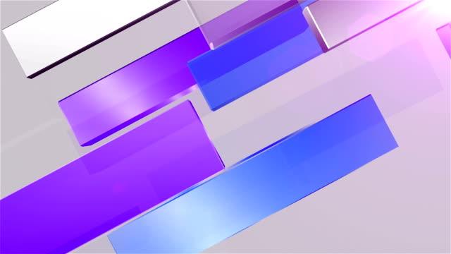abstrakt hintergrund-lila und blau - rechteck stock-videos und b-roll-filmmaterial