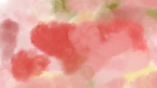 abstract backgrounds , watercolor painting surrealistic in heart shape - vídeo
