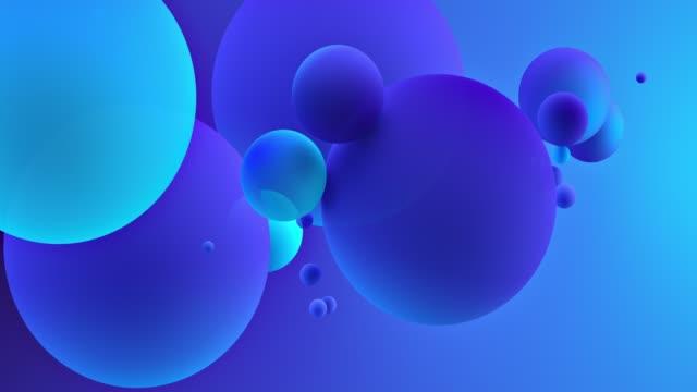 palle astratte. blu neon - elevato video stock e b–roll