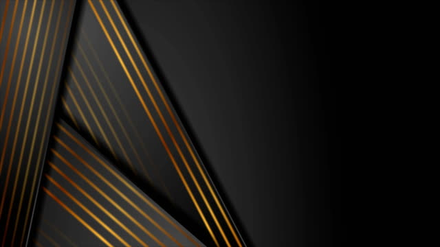 Abstract black and bronze corporate video animation