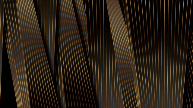 vídeos de stock e filmes b-roll de abstract black and bronze stripes and lines corporate video animation - gold