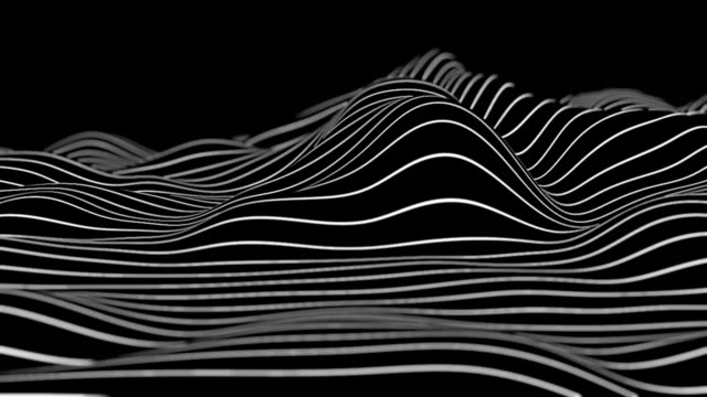 Abstract Black and White lines Abstract animation of flowing Black and White lines video geometric background stock videos & royalty-free footage