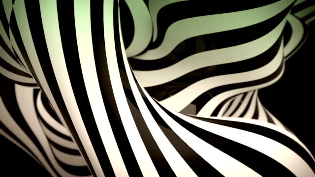 abstract black and white motion background with moving zebra lines - 動態圖形 個影片檔及 b 捲影像
