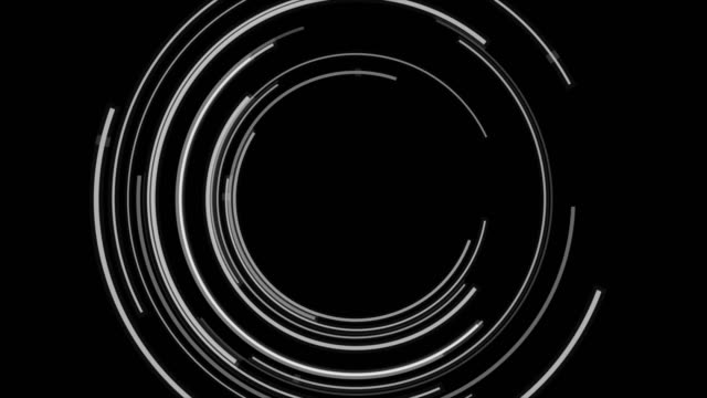 Abstract black and white tech circles video animation video