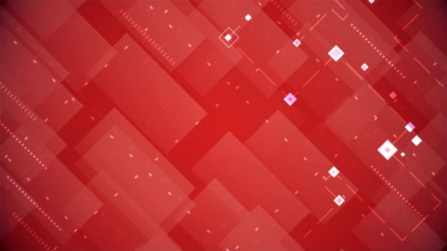 vídeos de stock e filmes b-roll de abstract blocks background (loopable) - vr red background