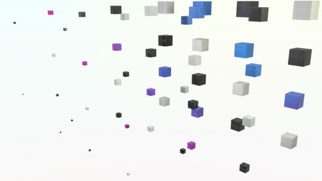 blocchi astratto onda-rosa/blu (full hd - full hd format video stock e b–roll