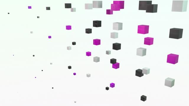 Abstract Blocks Wave - Purple Pink (Full HD) video