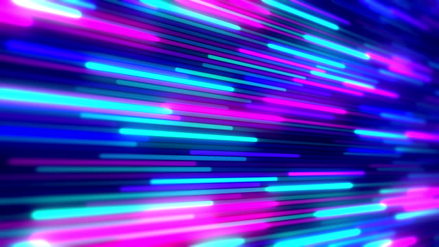 Abstract  blue and purple lines loopable background footage Abstract striped bright blue and purple glowing lines background footage in technology style neon colored stock videos & royalty-free footage