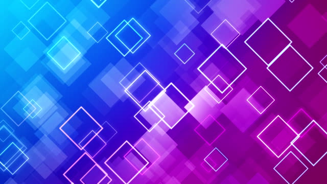 Abstract Blue and Purple Squares Background - (loopable)