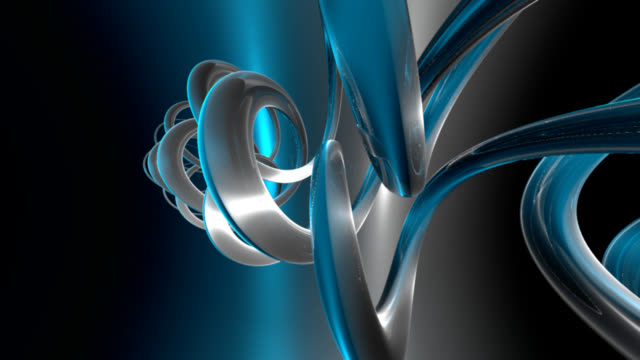 (Loop)abstract blue background-HD video