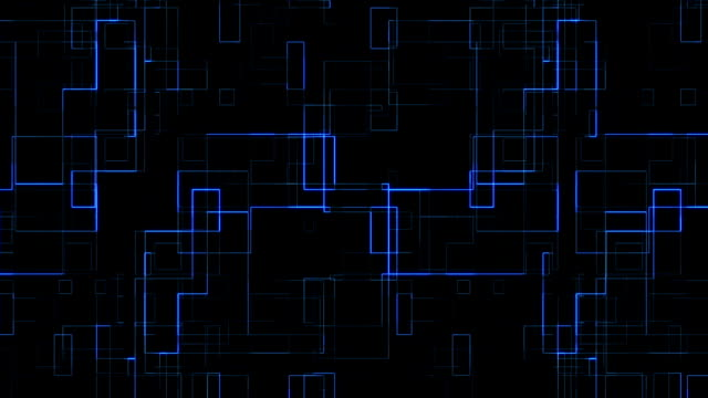 abstract blue circuit computer connect background movement, concept of future technology and information communication