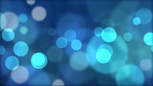 Abstract blue circular bokeh background video