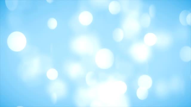 Abstrakte blaue sauber verschwommen weiche Glitter Staub tiny Moving Rising Glitter Bokeh Partikel weich loopable Hintergrund – Video