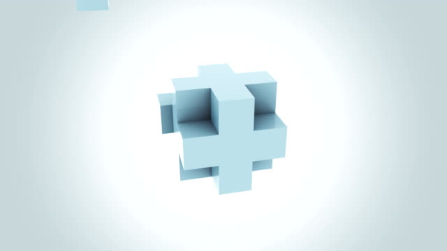 Abstract blue cube assembling endlessly. Increase, addition, growth and expansion concepts. FullHD seamless loopable motion background. ProRes, alpha