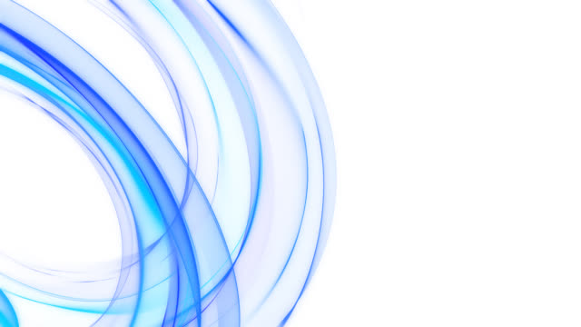 abstract blue curving lines - HD loop 3D HD looping render of curving blue lines on white. curve stock videos & royalty-free footage