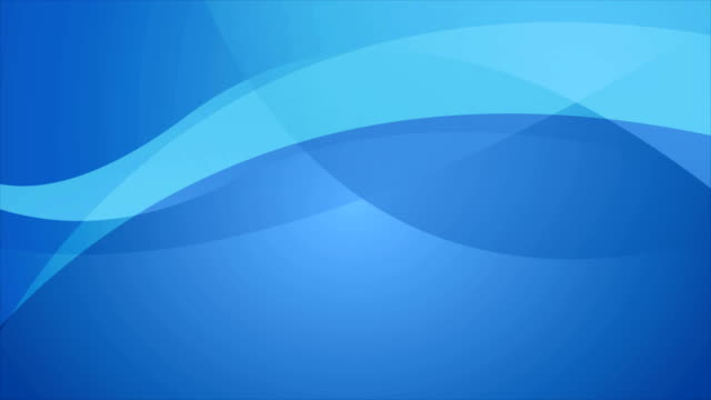 Abstract blue elegant waves video animation