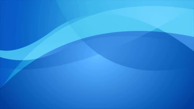 abstrakt blå elegant vågor video animation - böjd bildbanksvideor och videomaterial från bakom kulisserna