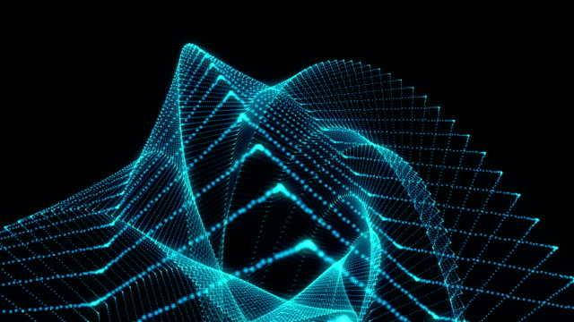 Abstract blue geometrical background particles able to loop video