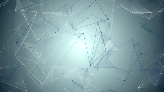 abstract blue geometrical background with lines and dots video