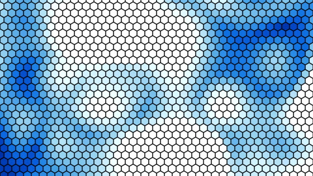 Abstract blue hex background. video