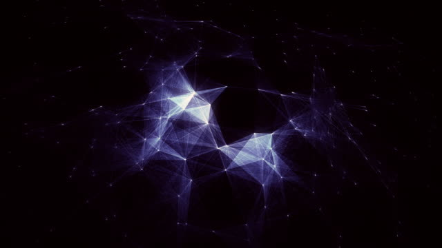 Abstract blue loopable background with connections / cg animation video