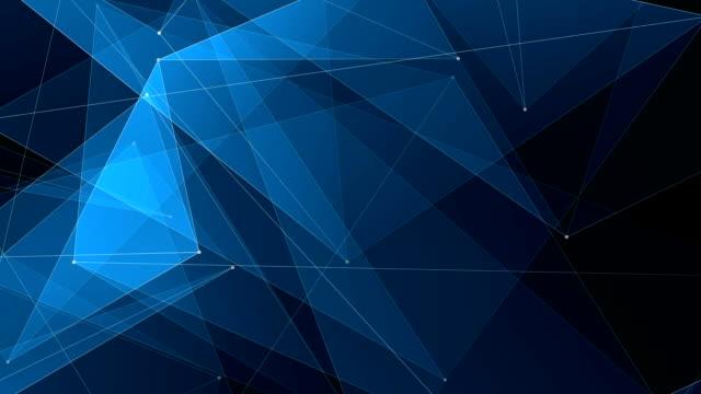 abstrakt blå poligon netto anslutningar molnet animation bakgrund nya kvalitet dynamisk teknik motion färgglada videofilmer - nod bildbanksvideor och videomaterial från bakom kulisserna