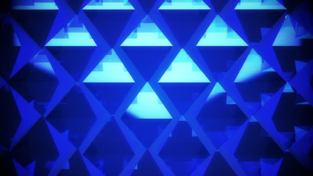 Abstract blue pyramid background video