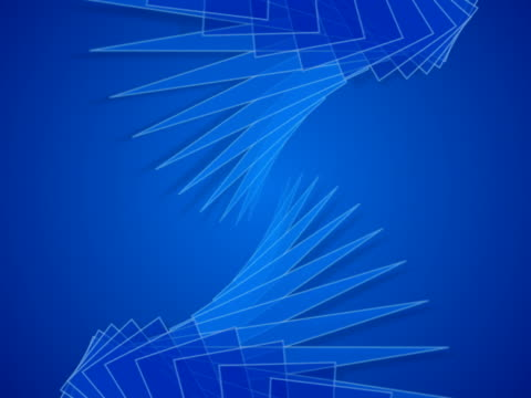 Abstract Blue Shapes video