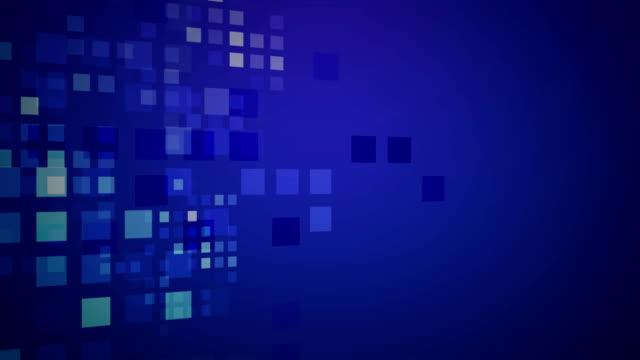 抽象的な青い正方形の背景 - image点の映像素材/bロール