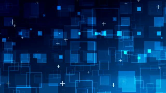blaue quadrate hintergrund abstrakt - quadratisch komposition stock-videos und b-roll-filmmaterial