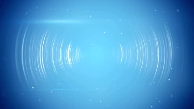 abstract blue technology seamless loop background - frequenza video stock e b–roll