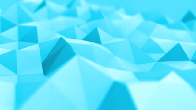 Abstract Blue Triangles (Loopable) video