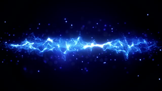 abstract blue wave form loopable background video