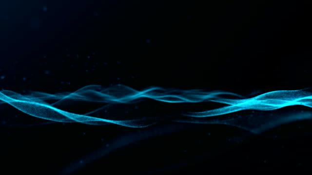 抽象的な青波パターンの背景 - 波紋点の映像素材/bロール