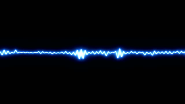 abstract blue waveform. - altoparlante hardware audio video stock e b–roll