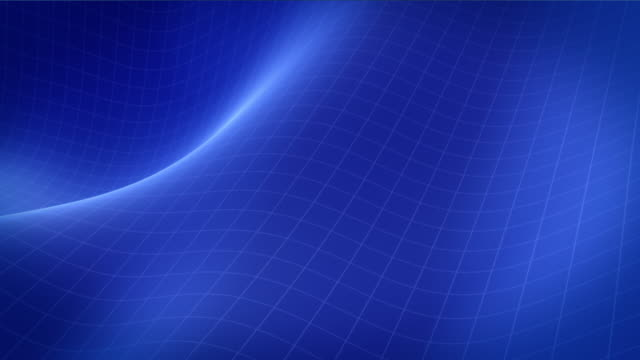 Abstract blue waving grid background. Looping. video