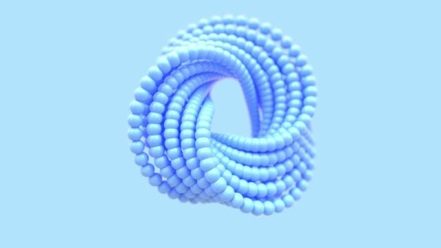 soyut mavimsi bükümlü torus şekli - sonsuzluk stok videoları ve detay görüntü çekimi