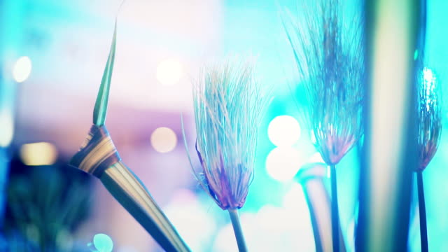 Abstract Blurred Beautiful With Bokeh Lights Background In Wedding