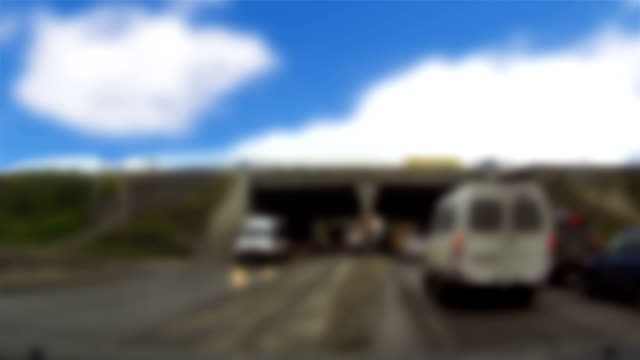 Abstract blurred video of road street and tunnel entrance video