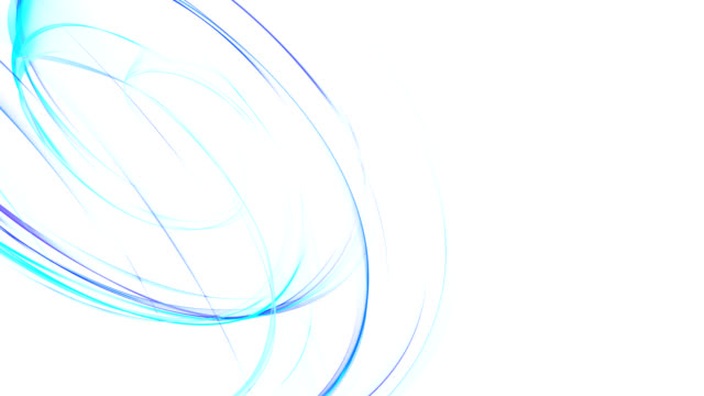 Abstract bright blue curves HD loop video