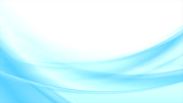 Abstract bright blue white blurred waves video animation