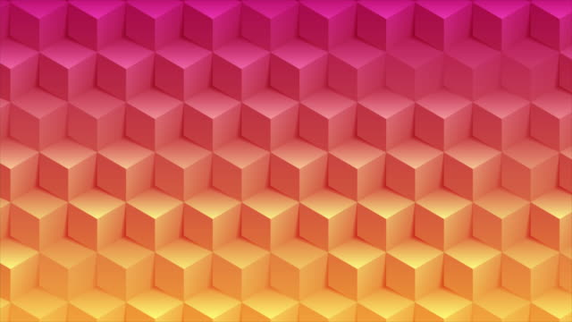 Abstract bright geometric 3d cubes technology motion background Abstract bright geometric 3d cubes technology motion design. Colorful pink and orange futuristic background. Video animation Ultra HD 4K 3840x2160 cube stock videos & royalty-free footage
