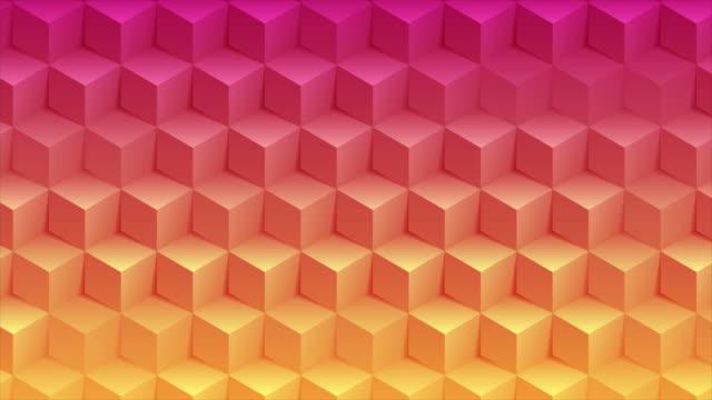vídeos y material grabado en eventos de stock de abstract bright geometric 3d cubes technology motion background - cube