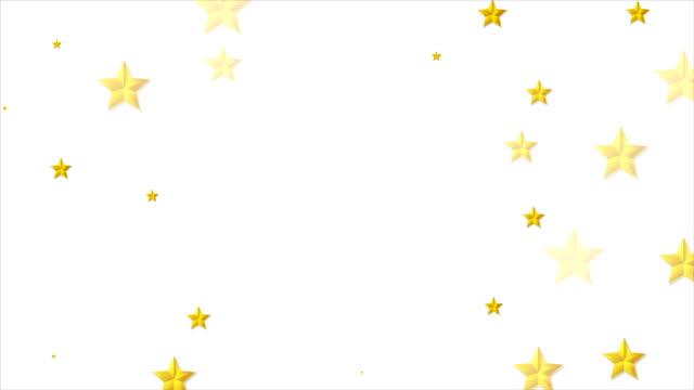 vídeos de stock, filmes e b-roll de abstrato dourado brilhante estrelas animação de vídeo - clipe